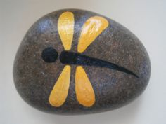 Dragonfly Painted Rock at www.placeforyou.etsy.com