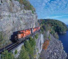 Willsboro Bay on Lake Champlain, NY. --Neat train track. Dont step off of the…