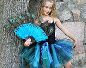 """Peacock Bustle Style Tulle Tutu with """"Tail"""""""