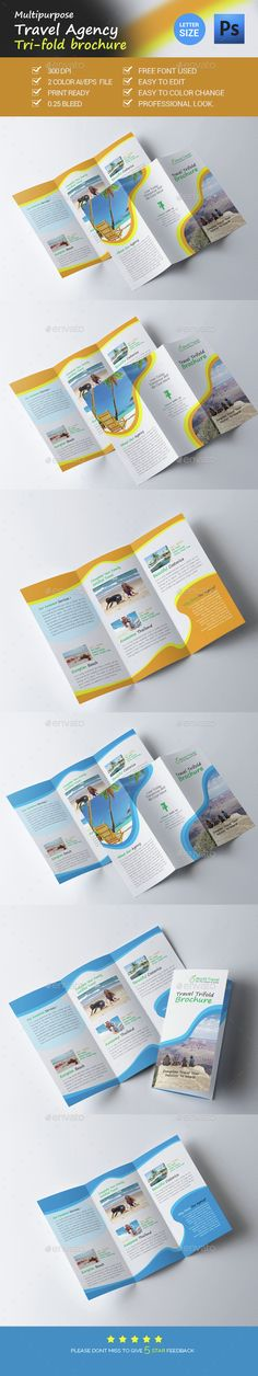 Travel Agency Trifold Brochure Template Vector EPS, AI. Download here: http://graphicriver.net/item/travel-agency-trifold-brochure/15226688?ref=ksioks