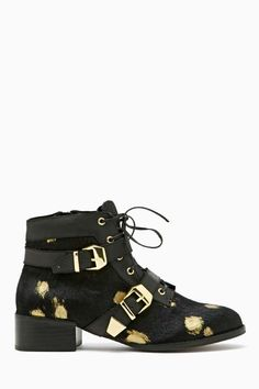 Matiko Julian Ponyhair Boot - Gold