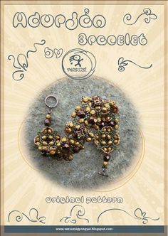 Adorjan bracelet...PDF instruction for personal by beadsbyvezsuzsi, $11.00