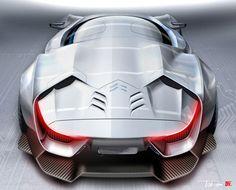 Citroen GT Concept Design Sketch - from the Design Sketch Board http://www.carbodydesign.com/design-sketch-board/