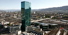 Prime Tower Zurich, which have a restauant and a bar