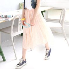 Tulle skirt with All Stars