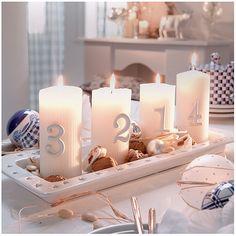 Pillar Candles, Christmas, Decor, Xmas, Decoration, Navidad, Noel, Decorating, Natal