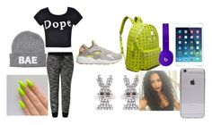 """""""Untitled #48"""" by mrs-rocroyaltheonly on Polyvore featuring MCM, Beats by Dr. Dre, Ally Fashion, Skinnydip and NIKE"""