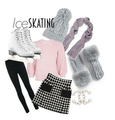 A fashion look from January 2018 featuring pink sweater, high waisted skirts and wool pants. Browse and shop related looks. Wool Pants, Pink Sweater, Ice Skating, 3.1 Phillip Lim, Fendi, Skate, High Waisted Skirt, Chanel, Fashion Looks
