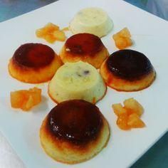 mmm... ¡Flanes de queso!  Homemade Desserts, Pancakes, Breakfast, Food, Creme Brulee Cheesecake, Deserts, Morning Coffee, Essen, Pancake