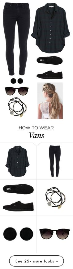 Untitled #2249 by twerkinonmaz on Polyvore featuring Xirena, Paige Denim, Vans, AeraVida, Ray-Ban and Feather & Stone