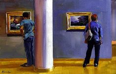 The Art of Art Appreciation: Paintings of People Looking at Paintings. See Karin Jurick and Richard Whincop. (More on this site)