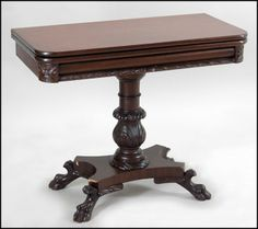 Mahogany Flip Top Games Table : Lot 132 1010 #mahogany #fliptop #gamestable