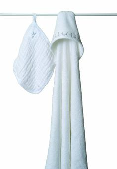 aden + anais Muslin Hooded Towel & Washcloth Set, Water Baby aden + anais in twinkle