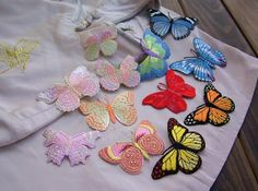 Beautiful butterfly cloth patchwork cloth by Rosewhisper on Etsy, $1.30
