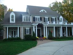 House Exteriors -Cape Cod. Great dormers. The house is designed to look like it has been modified over the the past +/-250 years with historical additions. brilliant.