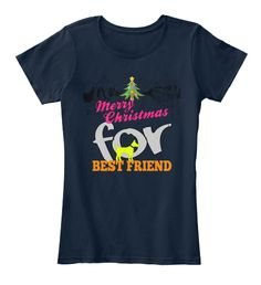 Merry Christmas For Best Friend New Navy Women's T-Shirt Front