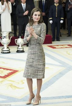 Queen Letizia of Spain attends the National Sports Awards 2015 at the El Pardo Palace on January 23, 2017 in Madrid, Spain.