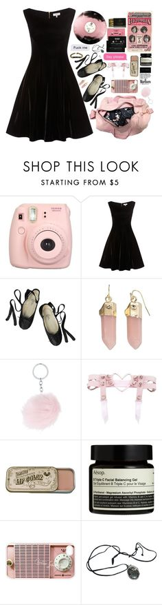 """I need a dirty woman"" by feed-the-skulls ❤ liked on Polyvore featuring Fujifilm, Ballet Beautiful, Apt. 9, CASSETTE, Aesop, Samsung and Avery"