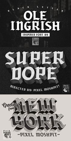 Ad: Inspired by delicious Blackletter/Ole English fonts with a simplified Caligraphy we bring you this inspired font. This font should have you ready to style any dark or dope apparel designs, album covers or anything else you think it can handle! Check out the samples for some ideas! $15 English Fonts, Gothic Fonts, Caligraphy, Glyphs, Apparel Design, Album Covers, Things To Think About, Handle, Inspired