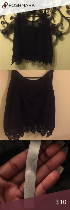 Black Sheer Sexy Crop Top ! Size M , fits true to size ! Black and sexy ! Worn twice ! Super Comfy ! Tops Crop Tops