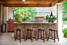 Love the idea of an outdoor bar/patio area Bar Patio, Outdoor Patio Bar, Outdoor Kitchen Bars, Patio Kitchen, Backyard Bar, Outdoor Kitchen Design, Outdoor Rooms, Patio Design, Outdoor Living