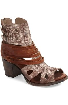 Freebird by Steven 'Nest' Open Toe Bootie (Women) available at #Nordstrom