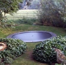 How To Install In-ground Trampolines - I might have to try this with ours when summer rolls around