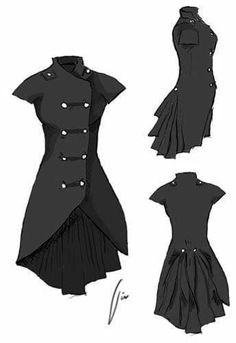 A Guide to Steampunk Fashion for Women Steampunk Clothing, Steampunk Fashion, Gothic Fashion, Steampunk Costume, Steampunk Dress, Anime Outfits, Cool Outfits, Fashion Outfits, Fashion Coat