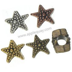 Zinc Alloy Star Beads,Plated,Cadmium And Lead Free,Various Color For Choice,Approx 11*11*8.5mm,Hole:Approx 4.5mm,Sold By Bags,No002954