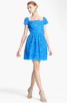 Oscar de la Renta Embroidered Cocktail Dress available at #Nordstrom