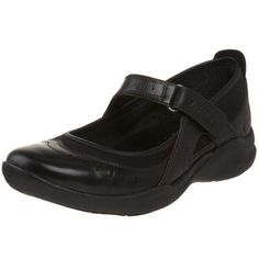 Clarks Women's Wave.Cruise Mary Jane Flat Clarks. $72.99. Injected EVA outsole with carbon rubber pads at key strike points further improves the walking experience.. Rocker profile heel kicker, concave heel and toe-off support at outsole help you maximize energy return and create a smooth, effortless forward motion with each step.. Internal EVA heel wedge positions your feet for easier walking while allowing for the use of custom orthotics.. Removable dual-density Ortholitefo...