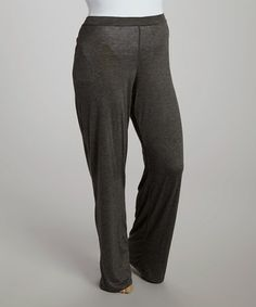 Loving this Charcoal Palazzo Pants - Plus on #zulily! #zulilyfinds