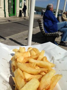 Nothing better than chips at the seaside.