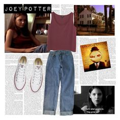 Joey Potter - Outfit Inspiration - Season 1 by vilena-ferreira on Polyvore featuring moda, Monki and Levi's