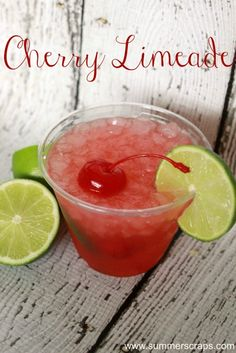 Easy Cherry Limeade Recipe with #PickYourPlum giveaway #KickOffToSummerWeek2014 - Day 1 - Summer Scraps