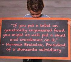 Truth about #GMO foods!  Quote Monsanto President on what GMO Labeling would mean for their company.
