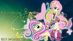Rainbow Rocks WP FlutterShy by on DeviantArt Fluttershy, Mlp, Rainbow Rocks, Twilight Sparkle, Sailor Moon, My Little Pony, Wallpaper, Board, Wallpapers