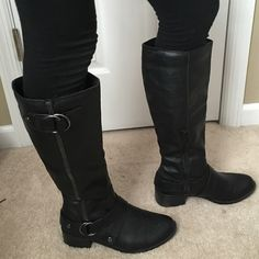 Sonoma Tall Black Boots Good condition. Side zipper! Sonoma Shoes Heeled Boots