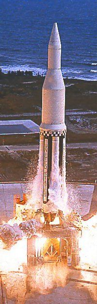 First launch of the Saturn I, 27 October, 1961