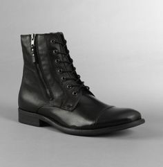 from kennethcole.com · I found this Leather Dual-Zip Lace-Up Boot - Boots -  Kenneth.