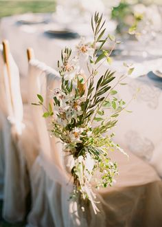 Chair Detail - Stems. Designed by Easton Events - Destination Wedding Planners with offices in Charleston, SC and Charlottesville, VA photo by Corbin Gurkin