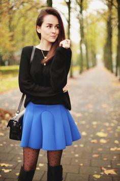 Тренд: юбки из неопрена   Look.TM