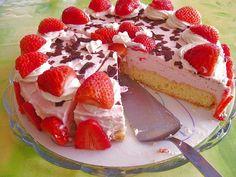 Geheime Rezepte: Schmand - Erdbeerkuchen Blechkuchen
