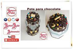 Pote para chocolate - biscuit http://amocarte.blogspot.com.br/
