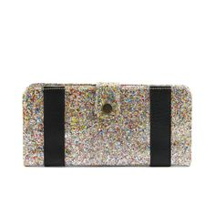 Shine bright with our Bold Stripe Glitter Wallet! International Youth Day, Bold Stripes, Fair Trade, Teal, Glitter, Wallet, Pink, Bright, Accessories