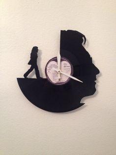 John Lennon Portrait Vinyl Record Clock on Etsy, $40.00