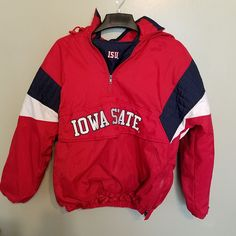 IOWA STATE CYCLONES MAJESTIC WINTER COAT JACKET SIZE LARGE ADULT