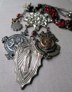 vintage assemblage necklace  BETHLEHEM  with by TheFrenchCircus, $196.00