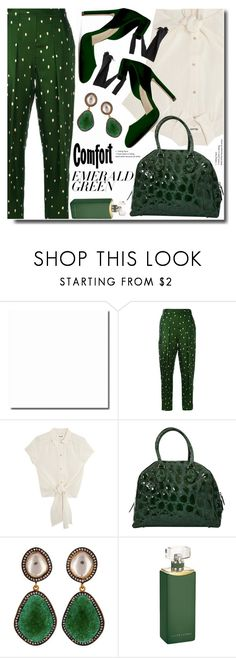 """Pops of Green"" by soks ❤ liked on Polyvore featuring 3.1 Phillip Lim, Alaïa, Carousel Jewels, Ralph Lauren Collection and emeraldgreen"
