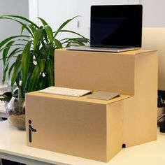 If you've made a New Year's Resolution to get up and be active more often, switching to a standing desk makes for a reasonable action item. As it turns out, standing up all day in the o… Floating Nightstand, Filing Cabinet, Flexibility, Cool Designs, Home And Garden, Make It Yourself, Storage, Desks, Hunting